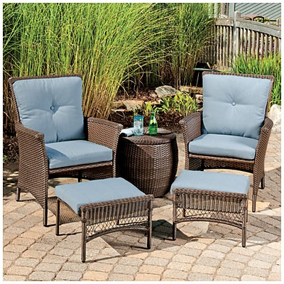 Wilson Amp Fisher 174 Chelsea Resin Wicker 5 Piece Seating Set