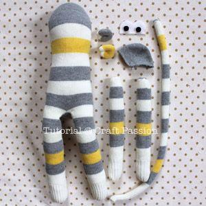 Un mono hecho con calcetines                                                                                                                                                                                 Más
