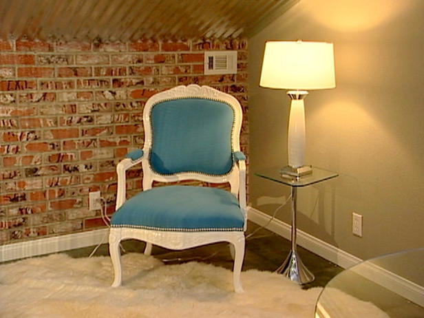 attic retreat idea:  try 2 chairs counter-corner in short corner