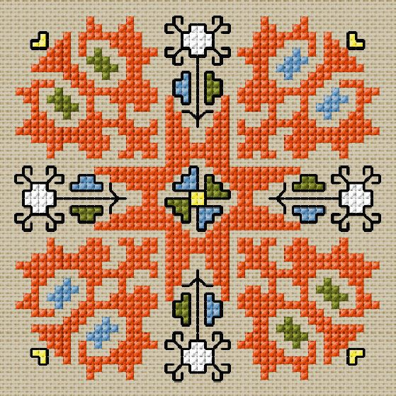 BULGARIAN EMBROIDERY- Cross stitch pattern PDF format
