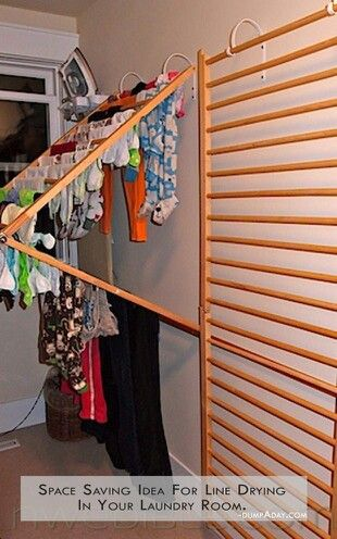 laundry room ideas - like this idea for a drying rack