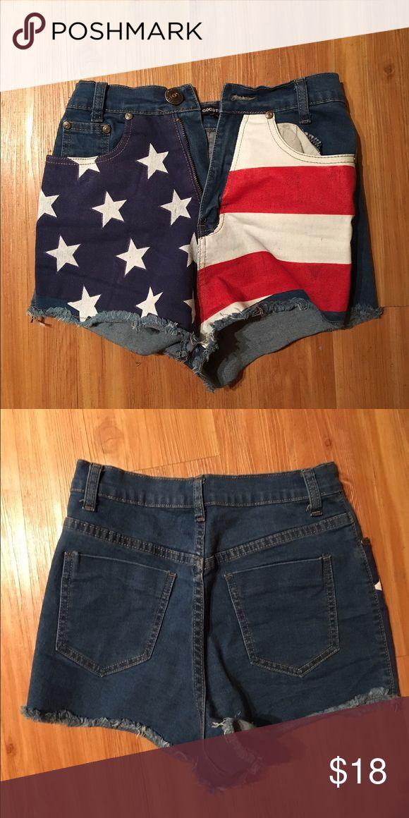 USA shorts Wore twice *not AA* American Apparel Shorts Jean Shorts