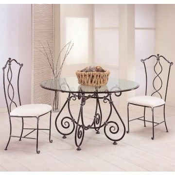 Mesa Redonda de Forja Eunice #Ambar #Muebles #Deco #Interiorismo | http://www.ambar-muebles.com/mesa-redonda-de-forja-eunice.html