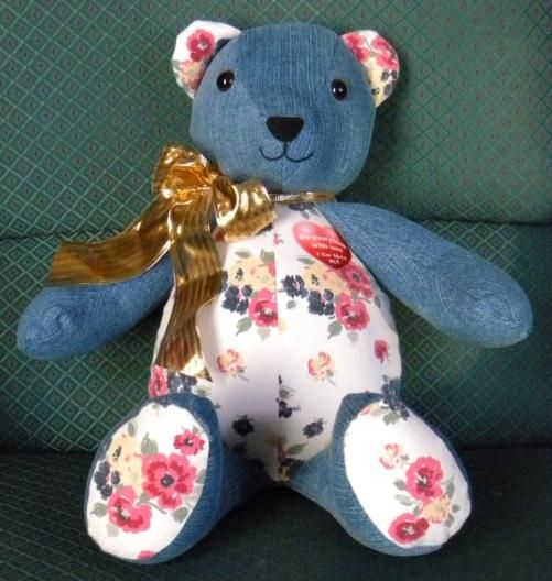 How to make a memory bear teddy bear made of loved one s clothes
