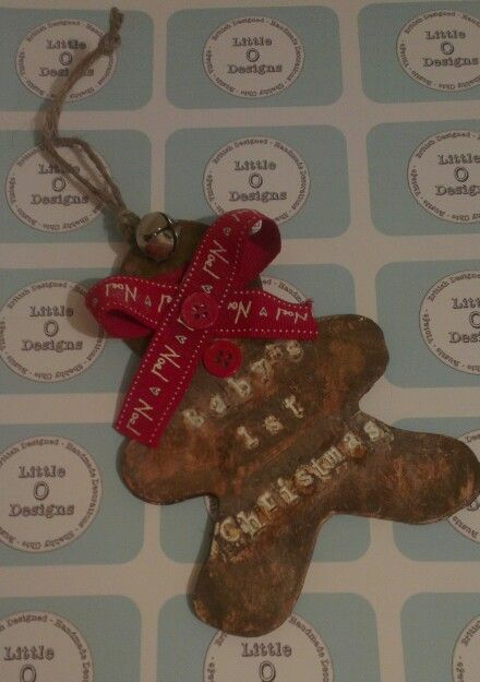 Baby's 1st Christmas Gingerbread Man