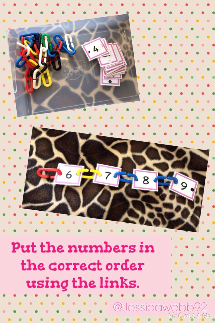 Use the links to put the numbers in the correct order. EYFS