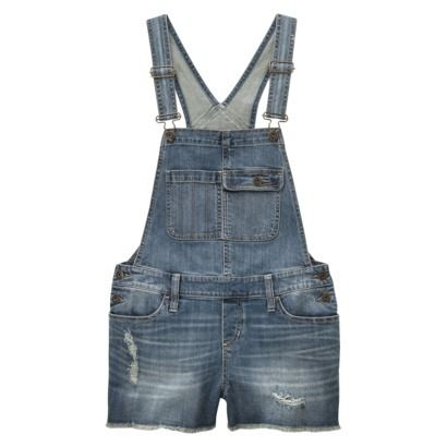 These were a staple in my middle school wardrobe. May have been this brand. Mossimo Supply Co. Junior's Denim Short Overalls