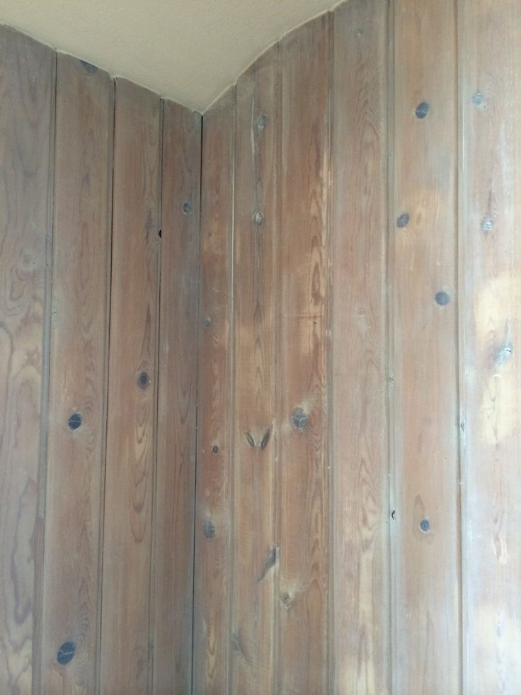 White Pickling Of Knotty Pine Paneling Home Pinterest