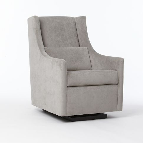 The glider would look good in the lady lounge too. Plus there's a matching ottoman.