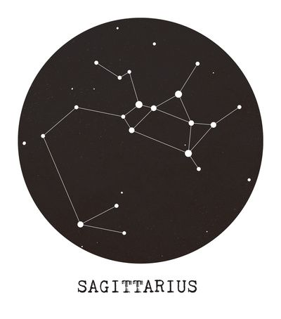 Sagittarius Star Constellation by Clarissa Di Nicola