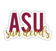 Arizona State University Sticker| #ASU #eatingpsych #bettycapaldiphillips eatingpsych.com
