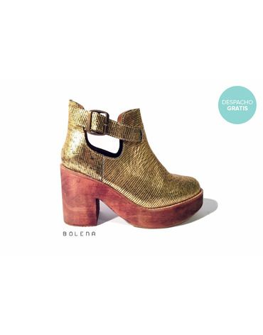 Botín Adele Dorado | Chilean handmade shoes