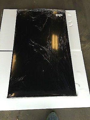 RV CAMPER MOTORHOME MINI REFRIGERATOR FREEZER BLACK DOOR COVER ADVENT #REF33BL/R