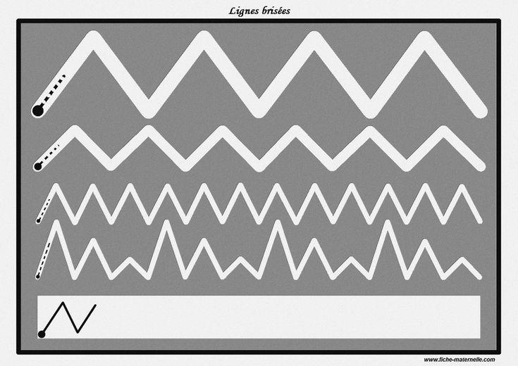Des pistes graphiques à plastifier pour apprendre à écrire : lignes brisées