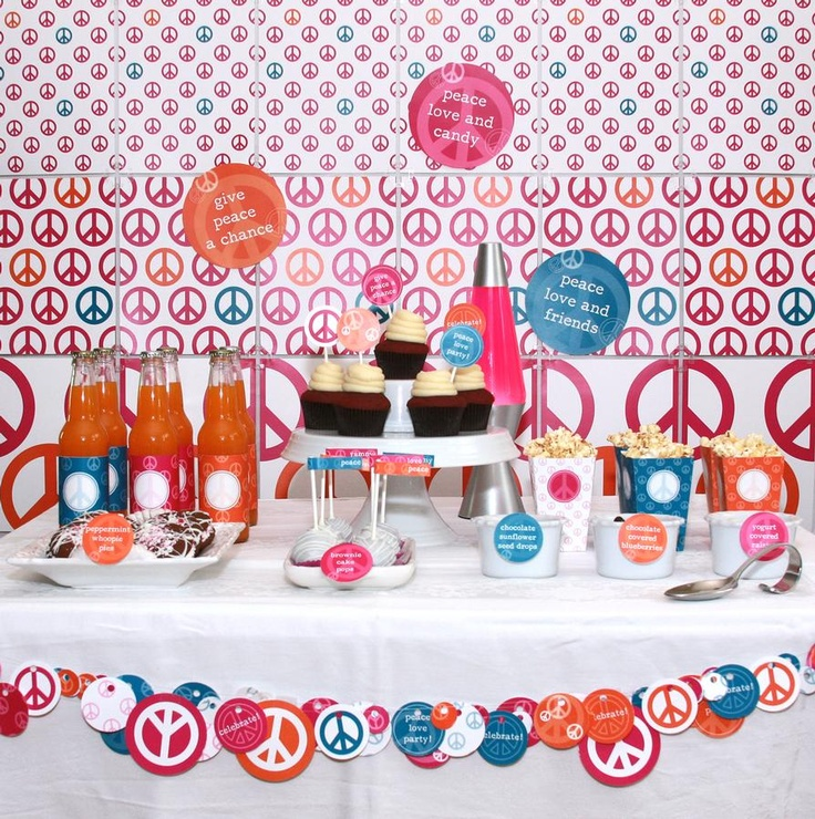 Peace and love party - photos for inspiration.