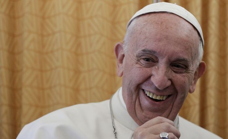 """Pope Francis was asked as he traveled back to Rome from Egypt on Saturday about North Korean ballistic missile tests and US warnings of """"catastrophic"""" consequences if the world fails to stop them. He was asked specifically what he would tell US President Donald Trump, who has sent a US carrier to conduct drills near the Koreas, and other leaders to try to diffuse the tensions 