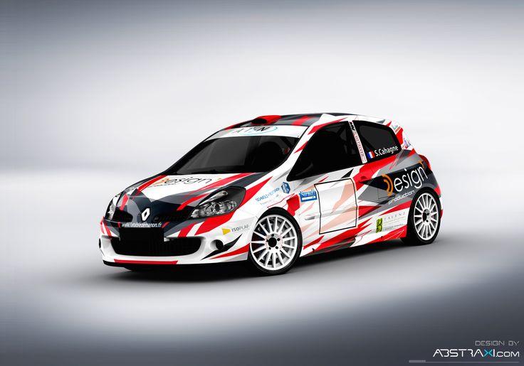 New design in modern style for Stephane Cahagne / Guilhem Gledel Renault Clio R3,  Rallye DU Medoc