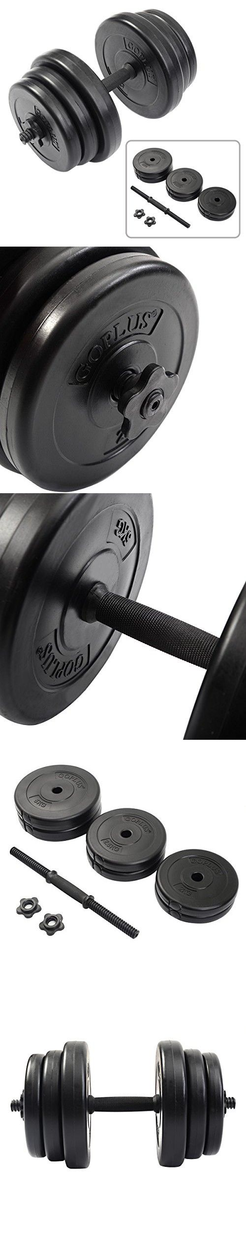 UBRTools Weight Dumbbell Set 44 LB Adjustable Cap Gym Barbell Plates Body Workout