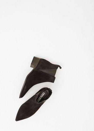 Acne Studios Jensen Suede Ankle Boot (Black)