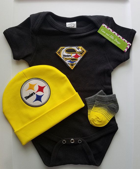 competitive price 1b579 2de20 Pittsburgh Steelers baby outfit-Steelers baby boy shower ...