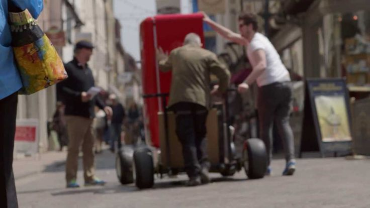 Molson Canadian left a beer fridge in a public place in Europe that could only be opened by a Canadian passport.