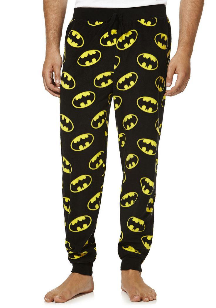 clothing at tesco dc comics batman fleece lounge pants. Black Bedroom Furniture Sets. Home Design Ideas