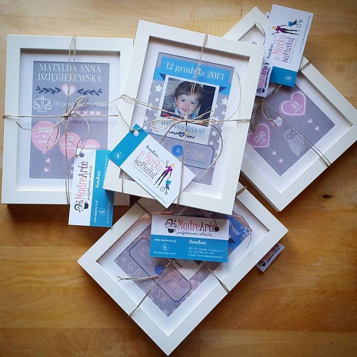 """""""#metryczka #urodzenia #prezent #na #urodziny #chrzest #roczek #sentymentalnie i #ładnie :) - - > www.madrearte.pl"""""""
