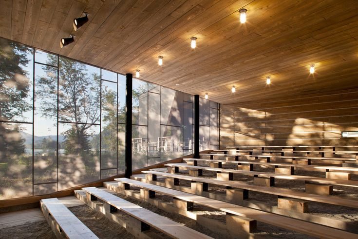 Discovery Centre for the Mont-Tremblant National Park,© Stéphane Brugger
