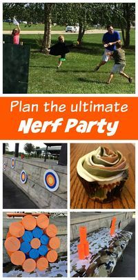Plan the Ultimate Nerf Battles Birthday Party - ideas for invitations, DIY activities, a Nerf wars, and camouflage cupcakes.