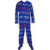 Buffalo Bills NFL Wildcard Unionsuit Pajamas (XX-Large)