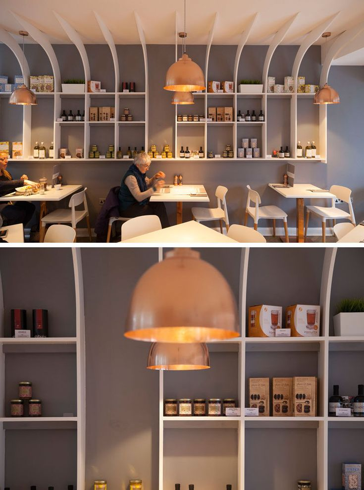 A White Grey Wood And Copper Interior Was Created For This Organic Restaurant