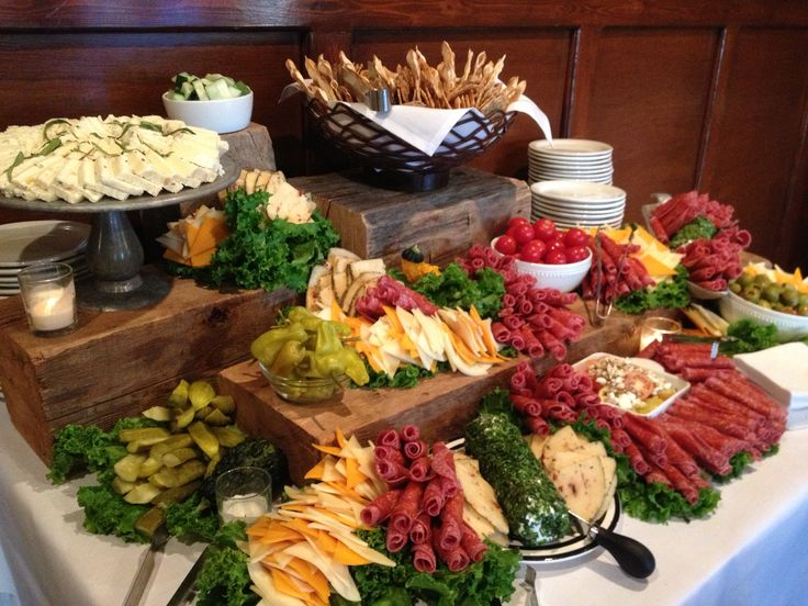A Display Of Antipasta Has Been The Perfect Appetizer For Larger Wedding Receptions It Provides Plenty Variety Some Really Unique Flavors That Tease