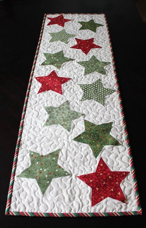 Christmas Star Table Runner PATTERN (PDF) | Patchwork | Weihnachten ...