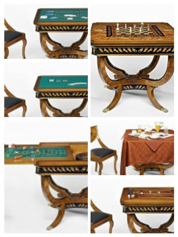Amazing #Biedermaier multifunctional #game table