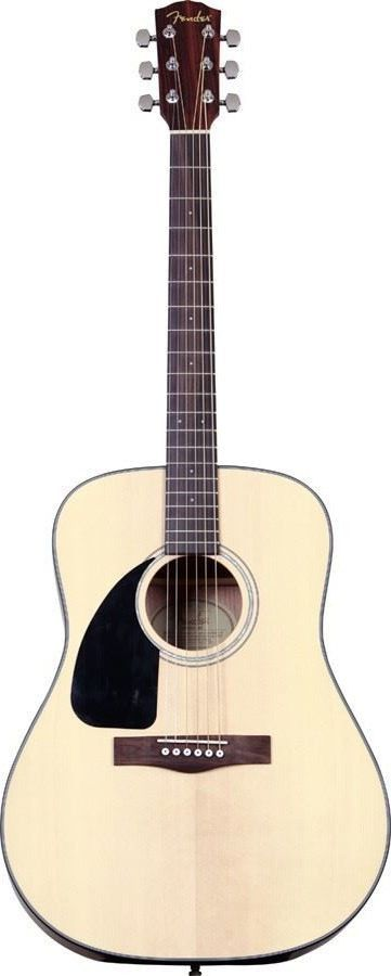 Fender CD-100 LH Left Handed Acoustic Guitar | Natural Finish  I have this, and it sounds great :D w/ Martin strings.