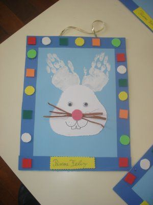 crafts for kids ~ hand print bunny