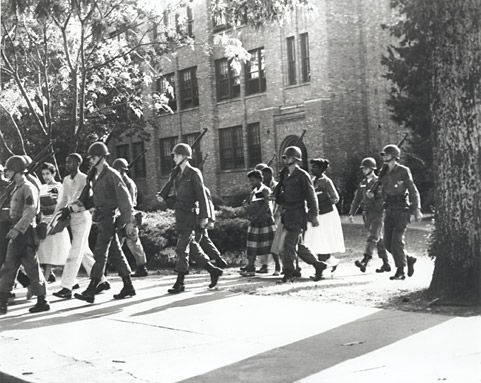 The Little Rock Nine - the beginnings of my political consciousness. I remember this so well and I was only 4 years old!