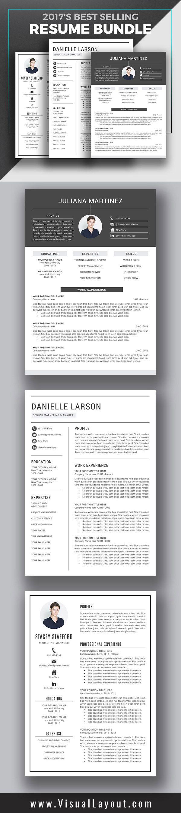 2017u0027s Best Selling Resume Bundle Professional u0026