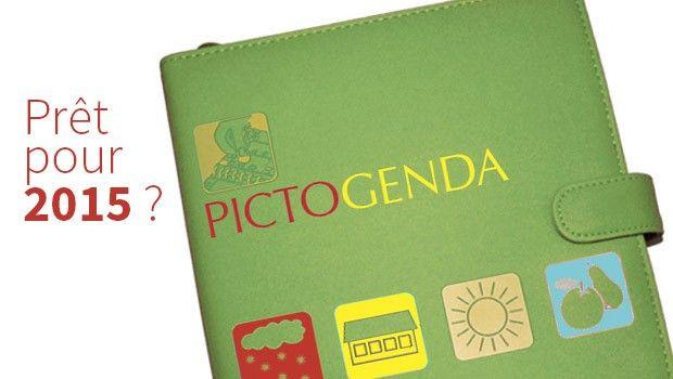 Organiser son temps à l'aide de pictogrammes avec le #Pictogenda ! - Le Pictogenda est un agenda dans lequel il est possible d'organiser son emploi du temps à l'aide de pictogrammes. Très pratique, cet outil est recommandé pour toutes les PICTOGENDA-2015personnes, adultes comme enfants, chez qui la gestion du temps est problématique, et qui ont des difficultés à maîtriser l'écrit.
