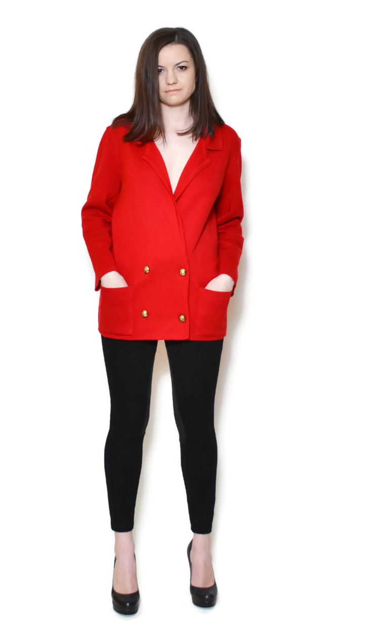 red sweater outfit work business casual  US$119.95