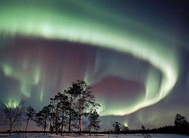 The Aurora Borealis in Finnish Lapland