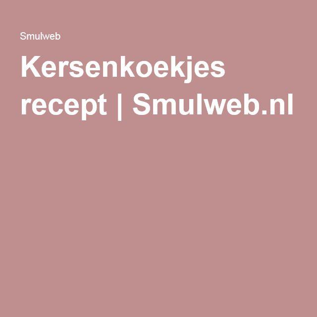 Kersenkoekjes recept | Smulweb.nl