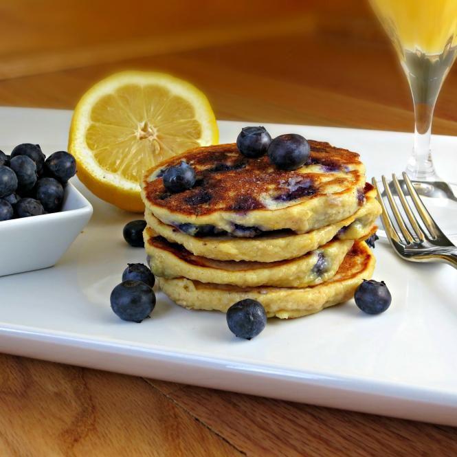 Blueberry Whole Wheat Pancakes. #food #pancakes #breakfast
