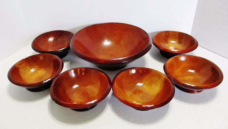 "Wood Salad Bowl Set Made In Haiti - 7 Piece Set - 1 Large 10"" & 6 Small 6"" Bowls #Unbranded ..... Visit all of our online locations ..... (www.stores.eBay.com/variety-on-a-budget) ..... (www.amazon.com/shops/Variety-on-a-Budget) ..... (www.etsy.com/shop/VarietyonaBudget) ..... (www.bonanza.com/booths/VarietyonaBudget ) .....(www.facebook.com/VarietyonaBudgetOnlineShopping)"