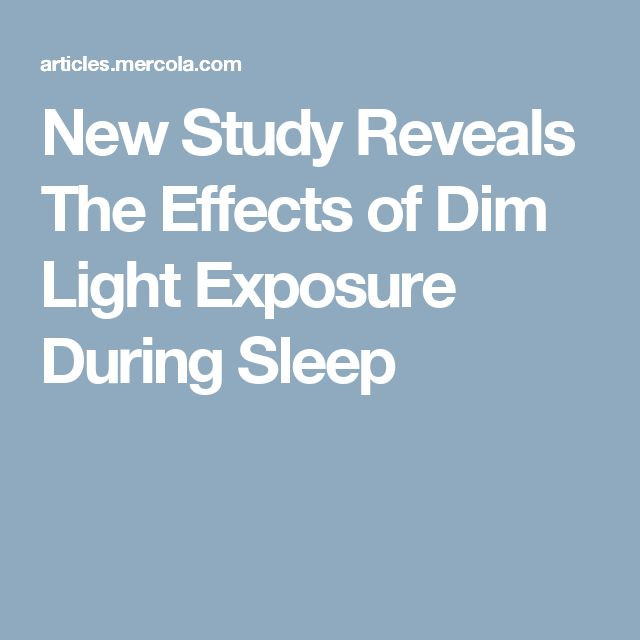 Effects of dim