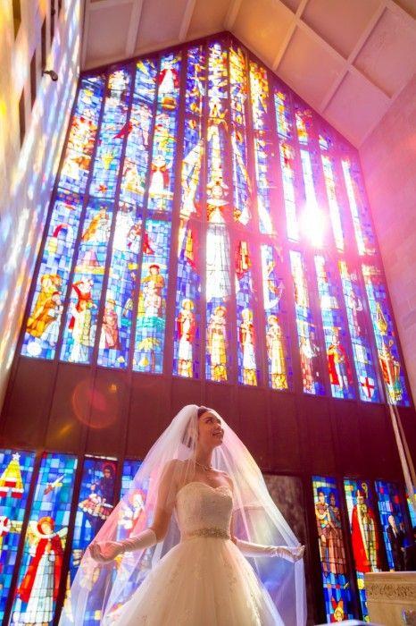 ハワイ・オアフ島の遷都・アンドリュース大聖堂はステンドグラスから差し込む光が美しい♪チャペルでの結婚式おしゃれまとめ♡ウェディング・ブライダルの参考に♪