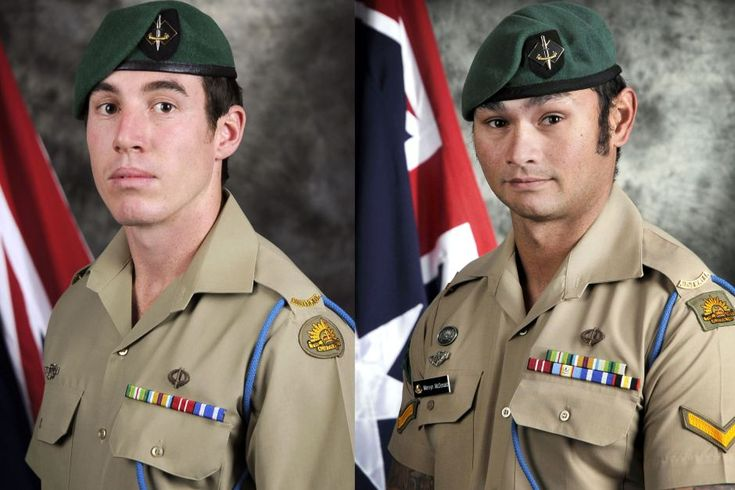 Lest We Forget - Official portraits show Australian soldiers Private Nathanael Galagher (L) and Lance Corporal Mervyn McDonald (R), who were killed in a helicopter crash in Afghanistan in August, 2012. Supplied: Defence Department