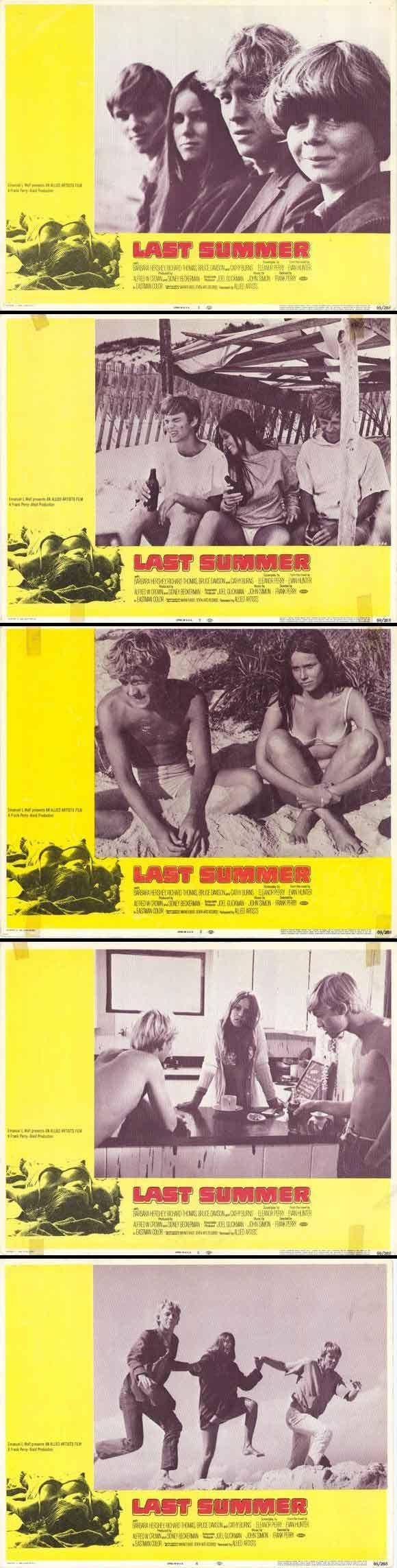 Last Summer (1969) starring Barbara Hershey, Richard Thomas, Bruce Davison & Catherine Burns