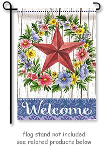 "Summer Country Star Garden Flag from Evergreen's Suede Reflection Collection by artist Elena Vladykina.  Size: 12.5"" x 18""  Free Shipping in the USA."