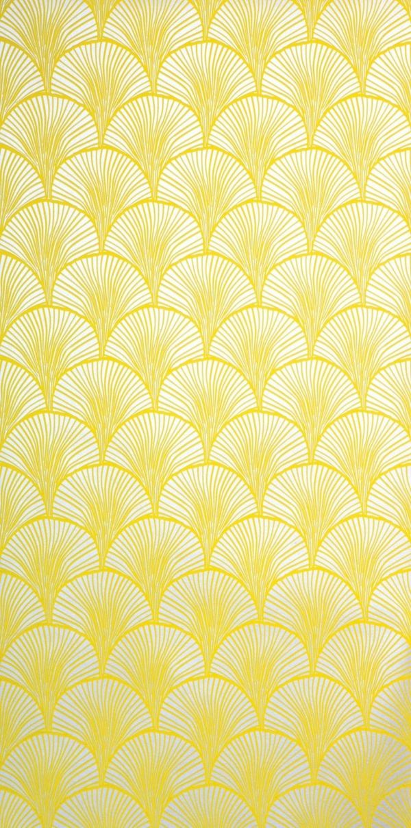 wandgestaltung ideen tapete gelb tapetenmuster